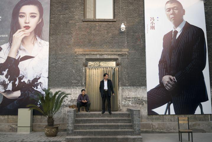 Filmfestivalplakate in Pingyao: Chinesen kommen in Hollywood erstaunlich häufig vor