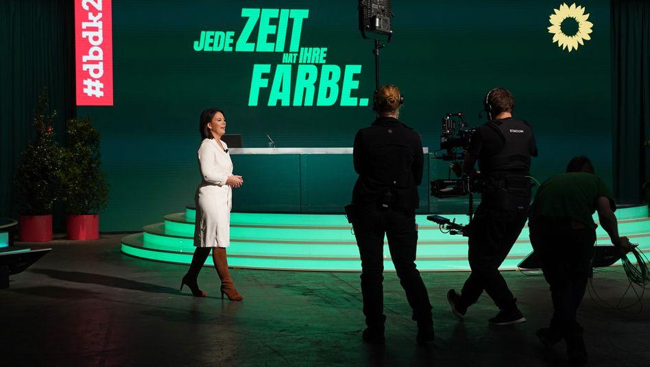 Annalena Baerbock hält auf dem virtuellen Parteitag die erste politische Rede