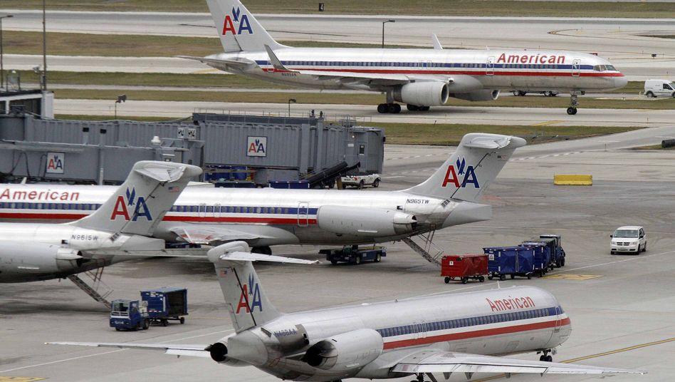 Flugzeuge (in Chicago/Archivbild): Gefahr durch Sprengsätze in Schuhen