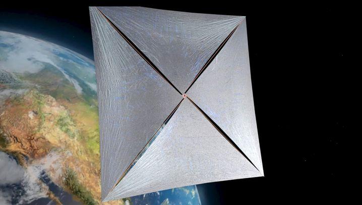 Nano-Sonde auf dem Weg durchs All (Computergrafik)