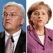 Kontrahenten Steinmeier, Merkel: Nur einer kann Kanzler sein