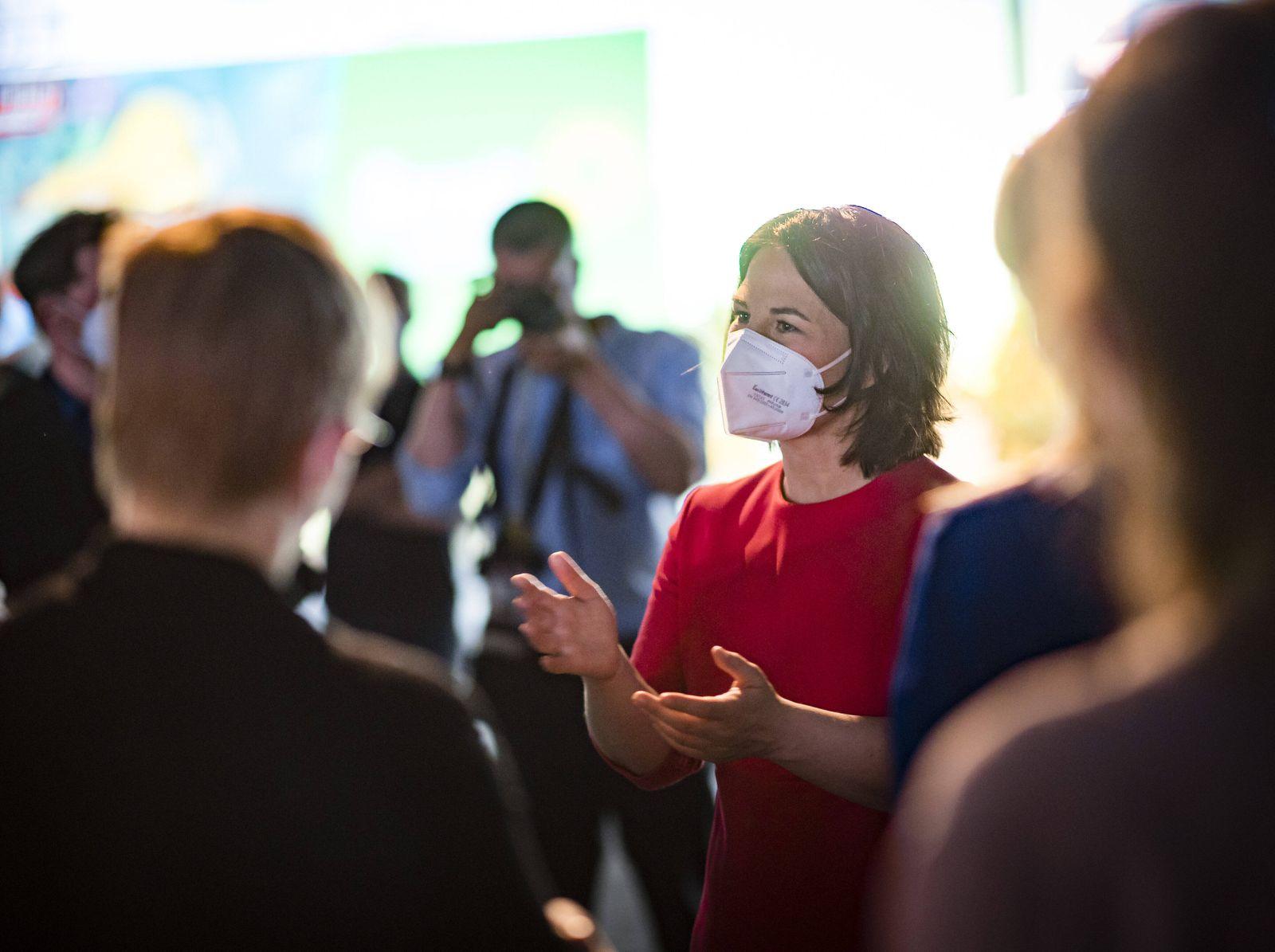 Annalena Baerbock, Kanzlerkandidatin und Bundesvorsitzende Ihrer Partei, aufgenommen im Rahmen des digitalen Parteitages