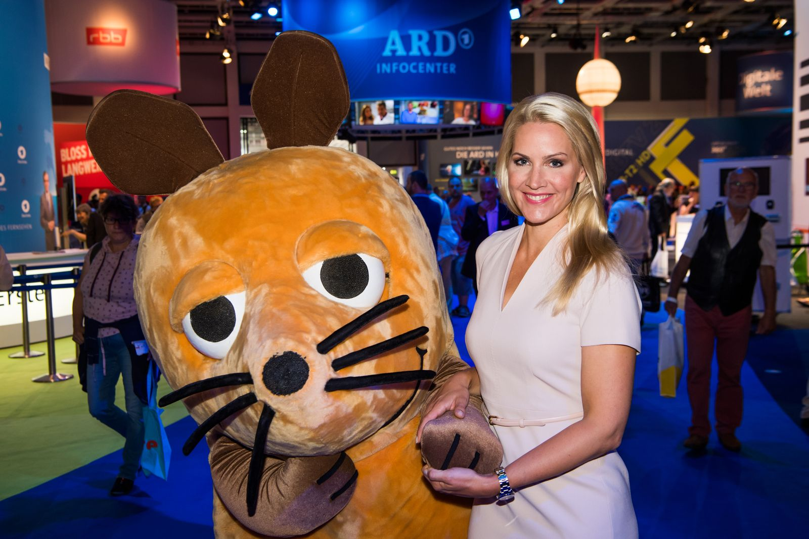 Celebrities Visit ARD Stand At 2017 IFA Tech Fair