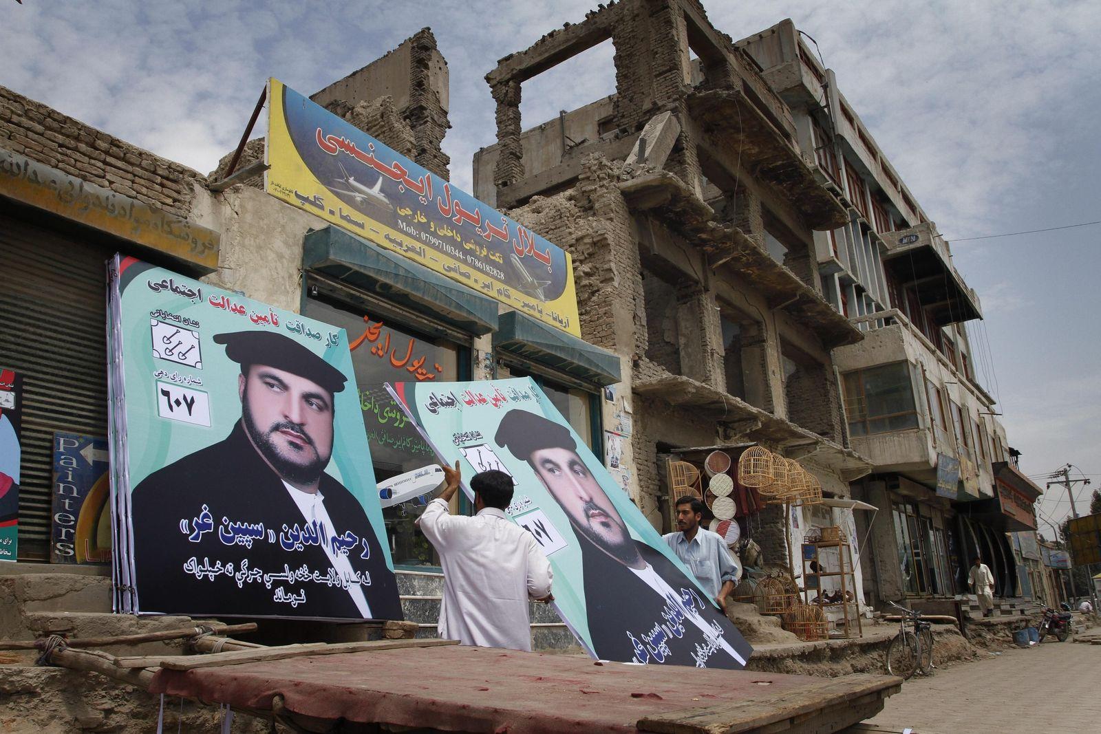 Wahlplakate in Kabul