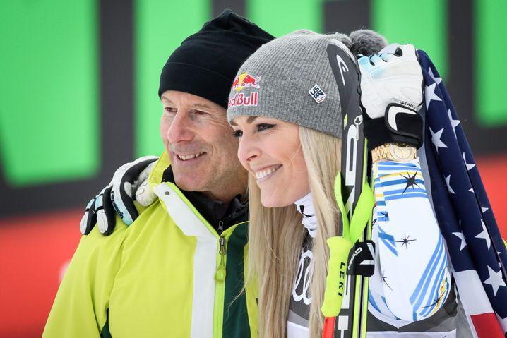Ingemar Stenmark (l.) und Lindsey Vonn