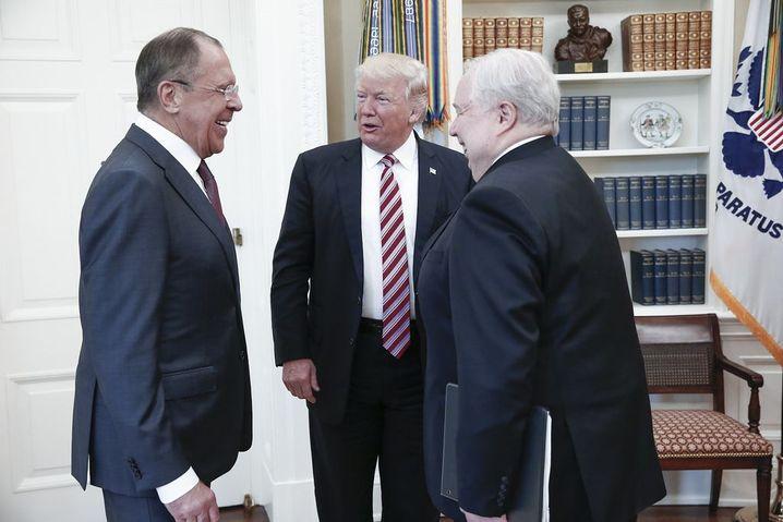 Lawrow, Trump und Sergej Kisljak