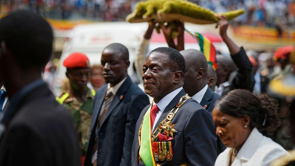 """Präsident Emmerson Mnangagwa, genannt """"das Krokodil"""""""