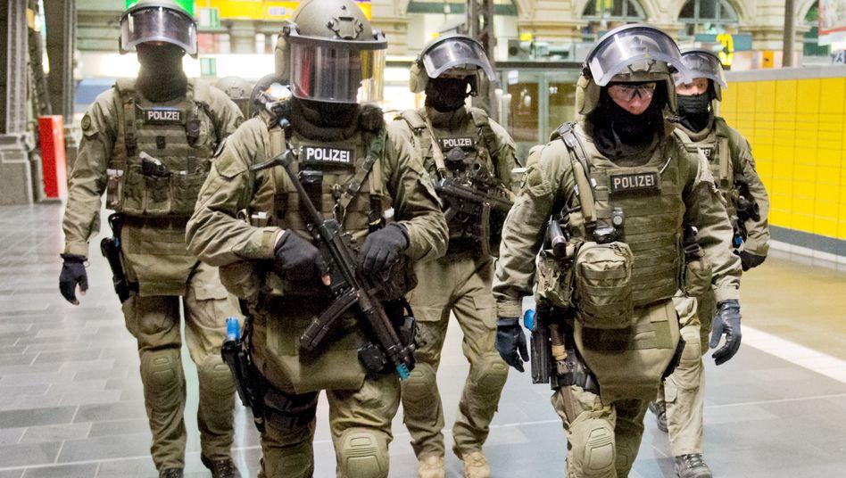 GSG 9 der Bundespolizei bei einer Übung in Frankfurt