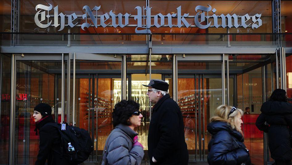 """Zentrale der """"New York Times"""": Neuer Versuch, mit Nachrichten im Web Geld zu verdienen"""