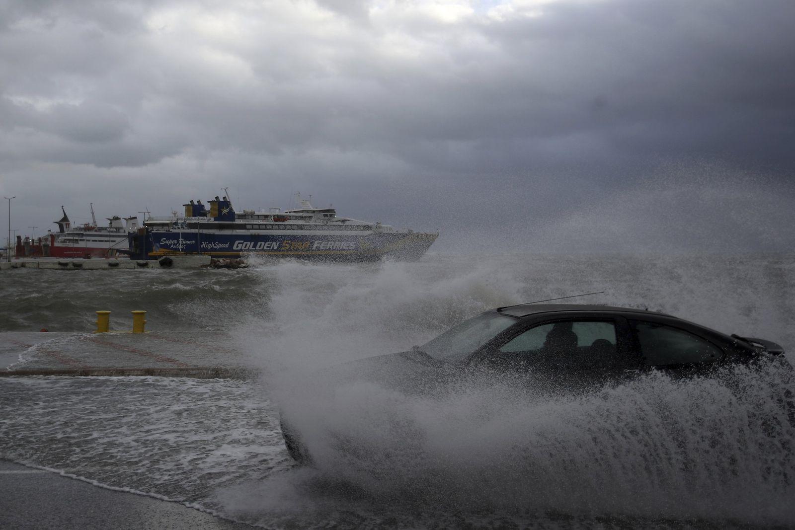 Unwetter in Griechenland