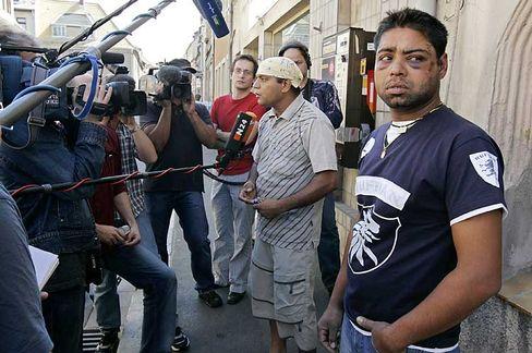 Hetzjagd auf Inder in Mügeln (Archivaufnahme): Ein TV-Zeuge der Vorfälle wurde in der Nacht zum Sonntag zusammengeschlagen
