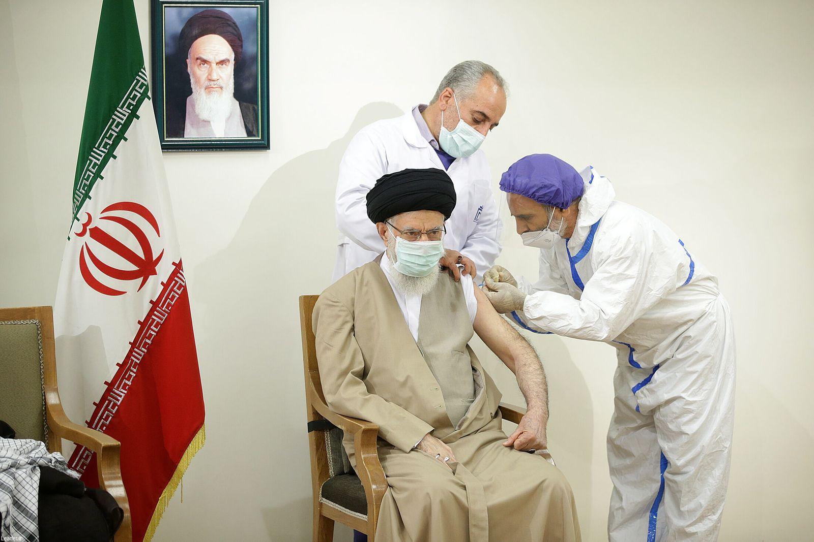 Iranian supreme leader receives locally-made COVID-19 vaccine