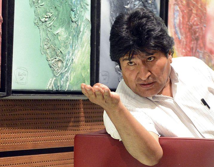 Der bolivianische Präsident Evo Morales am Flughafen von Wien