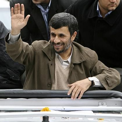 Iranian President Mahmoud Ahmadinejad. A new U.S. intelligence review concluded Iran stopped developing an atomic weapons program in 2003.