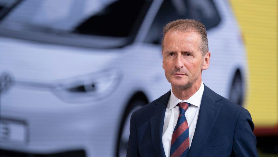 Volkswagen-Chef Herbert Diess: Er muss sich nun doch nicht vor Gericht verantworten