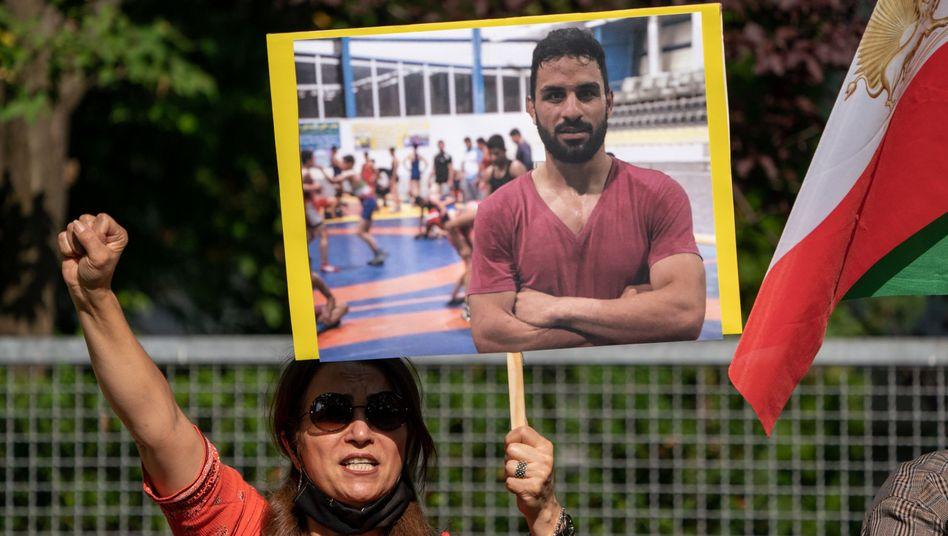 Protest in Berlin: Die Hinrichtung von Navid Afkari hat international für Entsetzen gesorgt