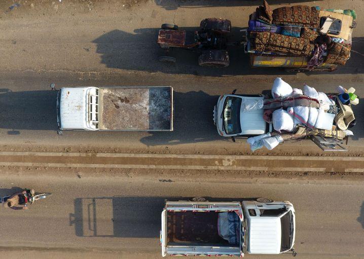 Flucht vor dem Tod: Konvois in Idlib