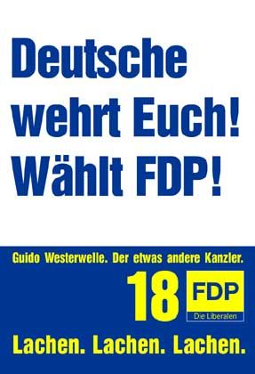 """Satire ohne pardon - scheinbar antisemitisches Wahlplakat aus der """"Titanic""""-Schmiede"""
