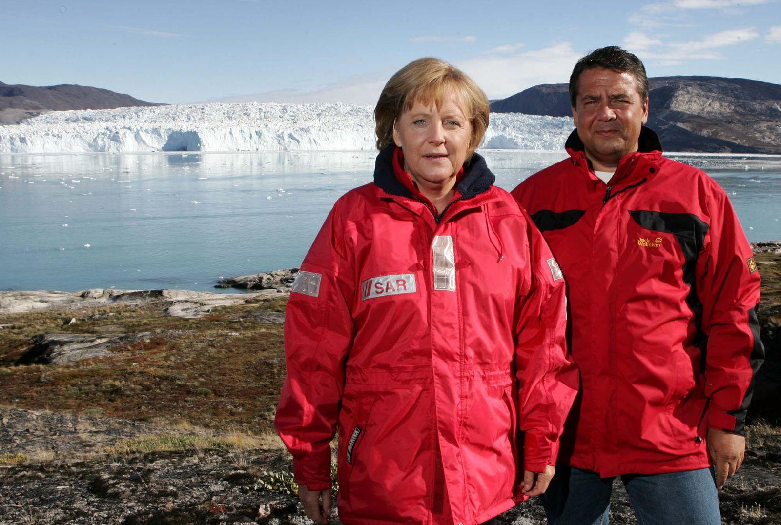 Gabriel Biga/ Merkel und Gabriel in Grönland
