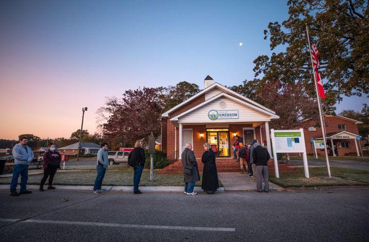 Frühaufsteher: Wähler im Bartow County in Georgia