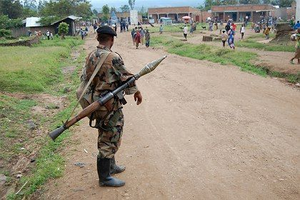 Rebel units now control the town of Ruthshuru, eastern Congo.