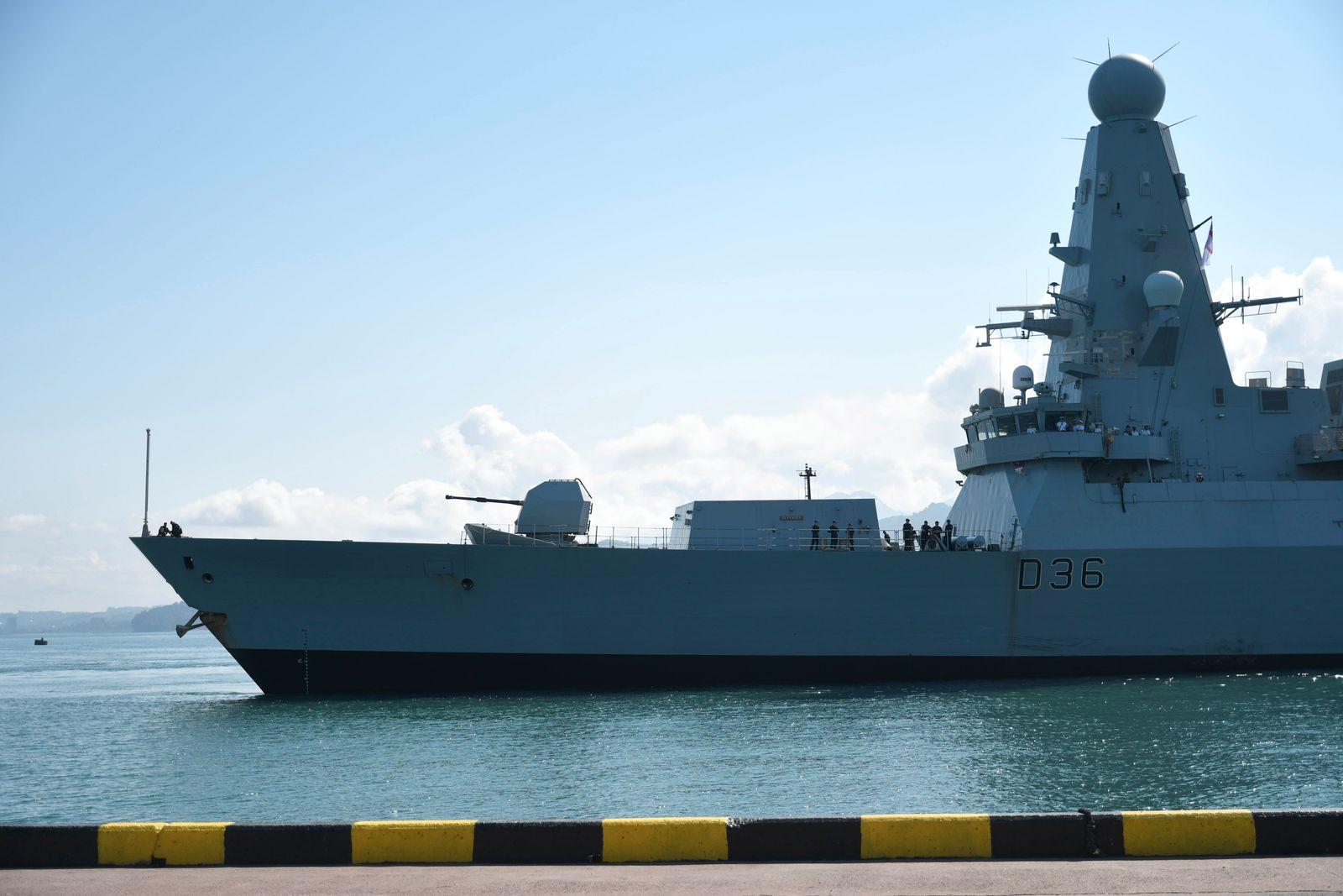 British destroyer HMS Defender in Georgian port of Batumi