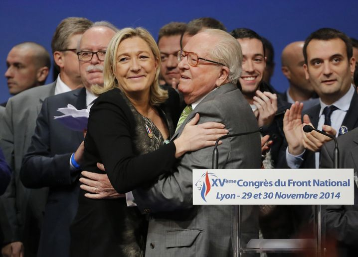 Papa le Pen und Marine - vor dem Schisma