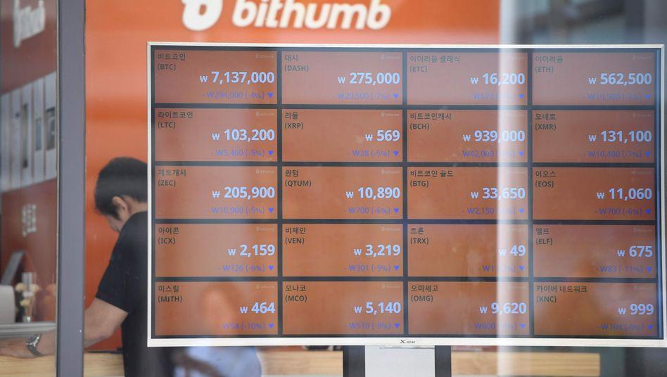 Bitcoin-Börse in Südkorea