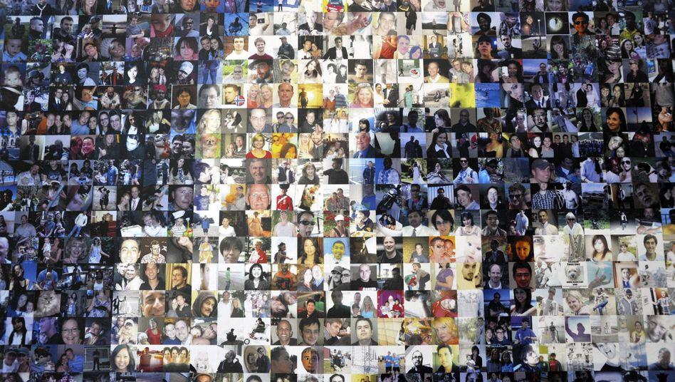Collage aus Facebook-Profilbildern