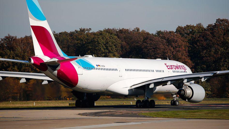 Eurowings-Maschine am Flughafen Köln-Bonn