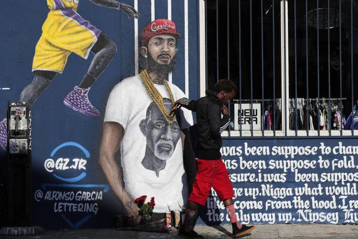 Hommage an den getöteten Rapper Nipsey Hussle in Los Angeles