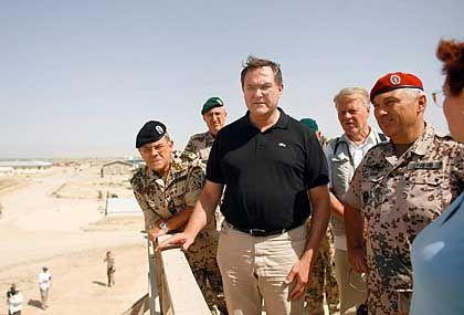 The German Defence Minister Franz Josef Jung in Afghanistan