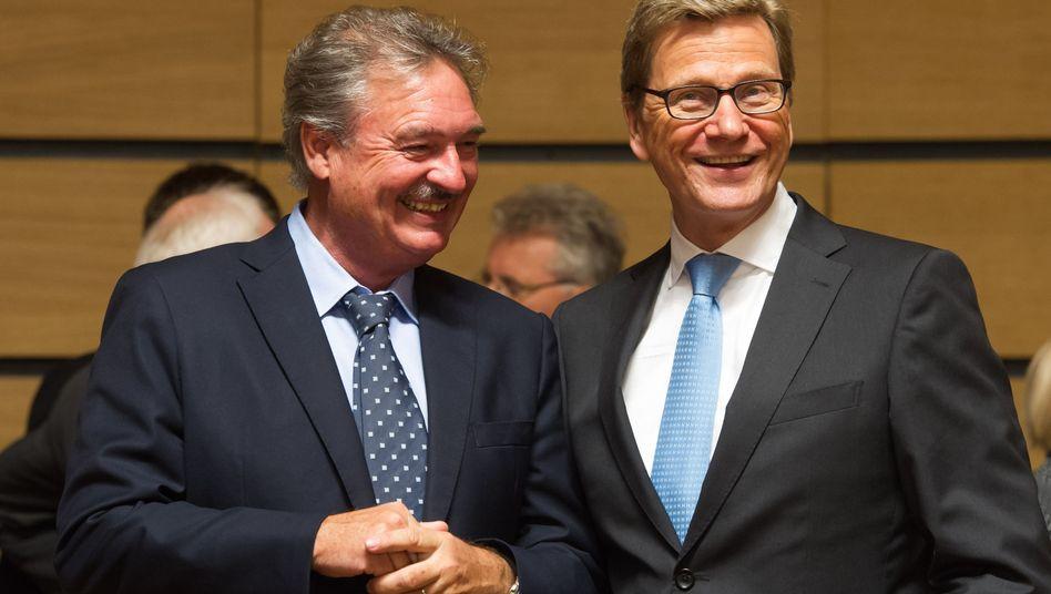 Luxemburgs Außenminister Jean Asselborn mit Amtskollege Guido Westerwelle