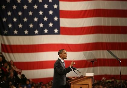 Barack Obama beat the Democratic field on Thursday in Iowa.