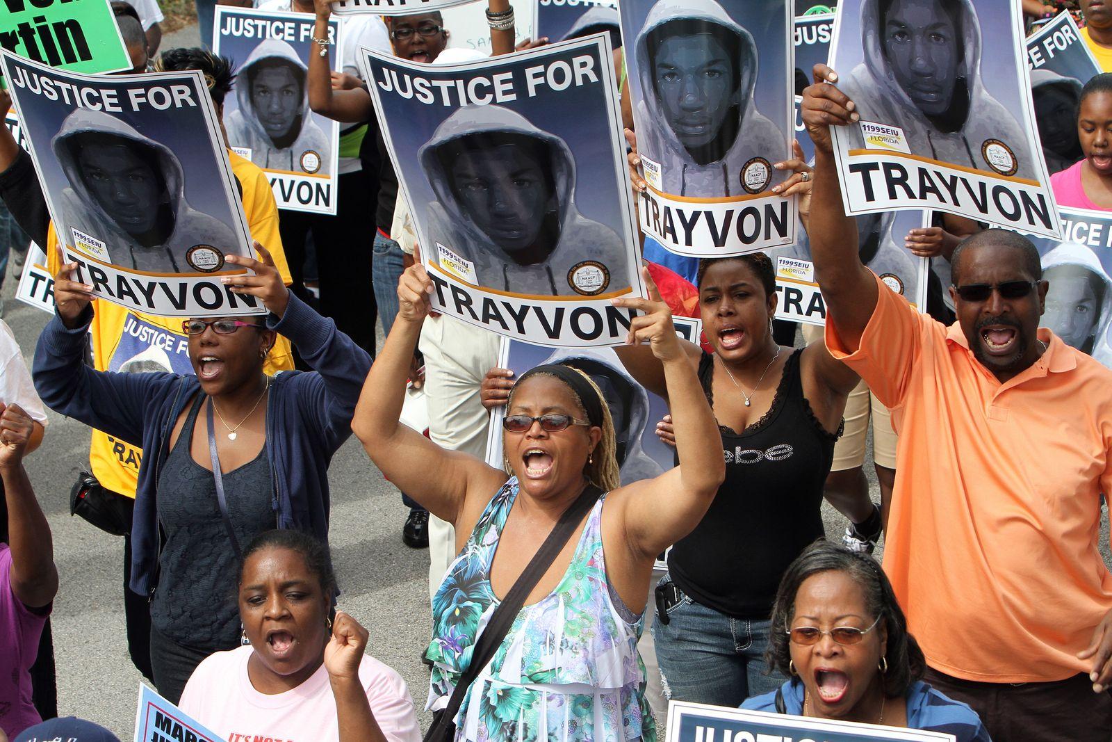 Trayvon Martin rally in Sanford, Florida