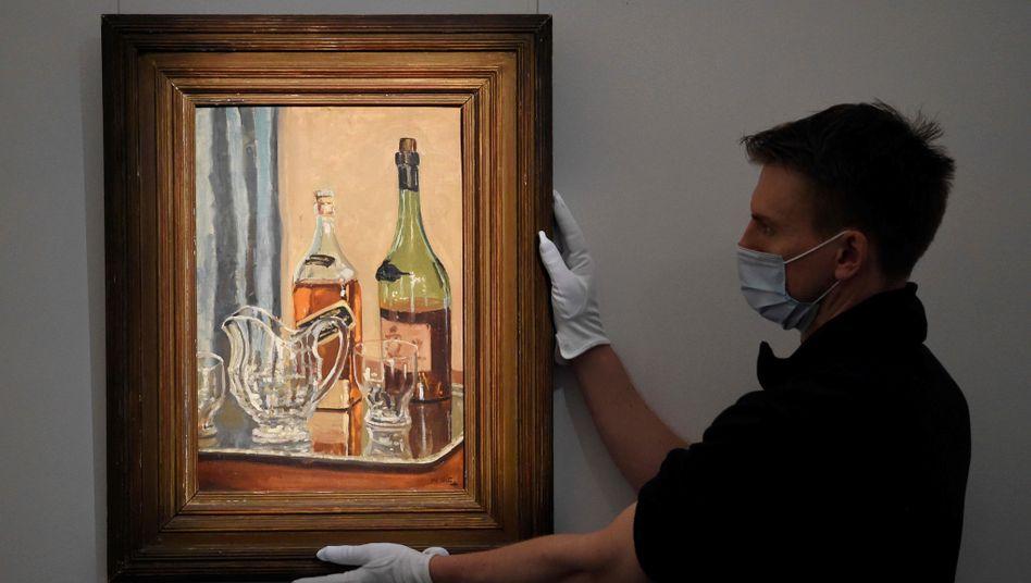 »Jug with Bottles«: Gemälde von Winston Churchill