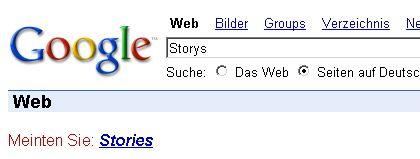 Google-Screenshot: Den Ratlosen auf die falsche Fährte gelockt