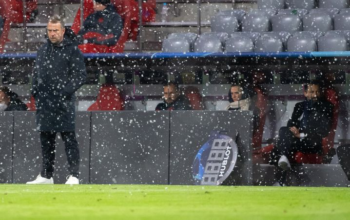 Immer noch Eiszeit in München? Bayern-Coach Hansi Flick (links) und Sportvorstand Hasan Salihamidžić (rechts)