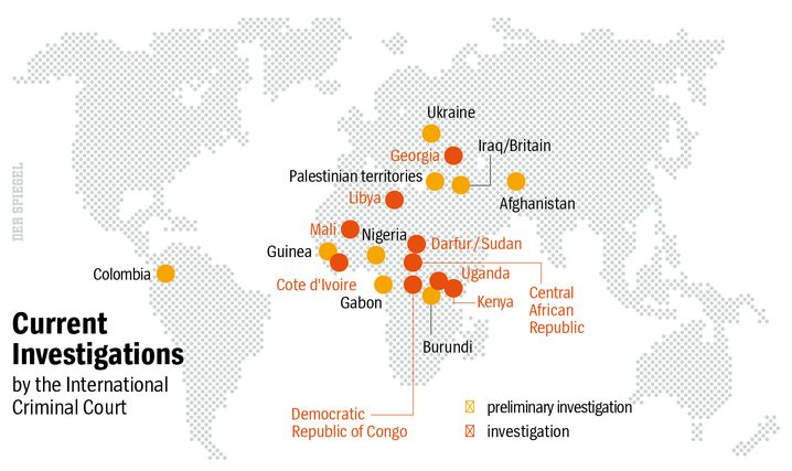 Map: ICC investigations around the world