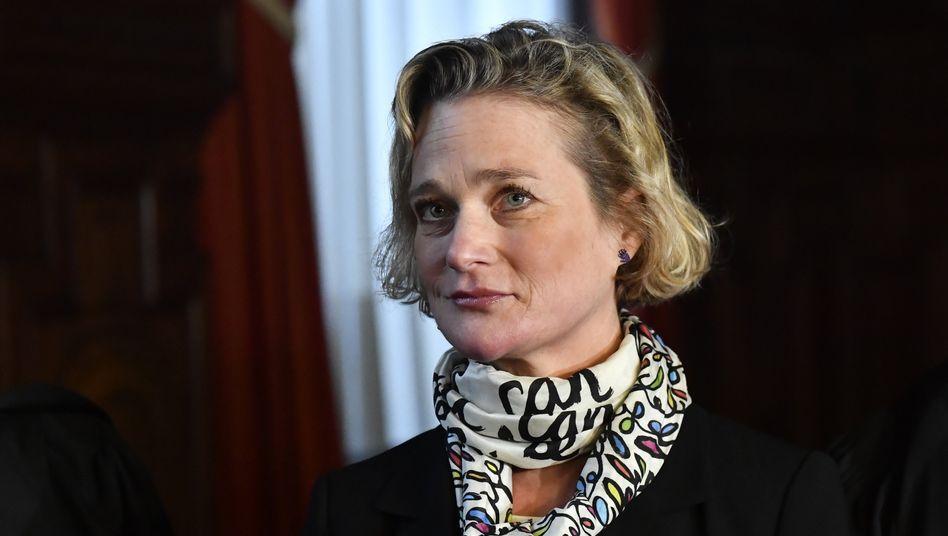 Delphine Boël im Dezember 2019 vor Gericht