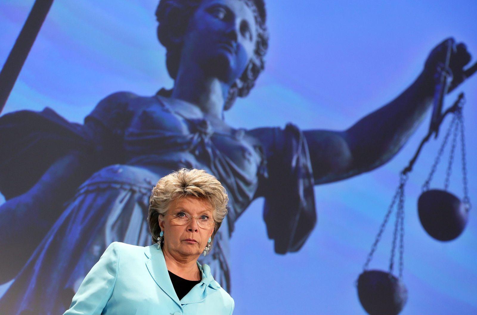 Viviane Reding press conference