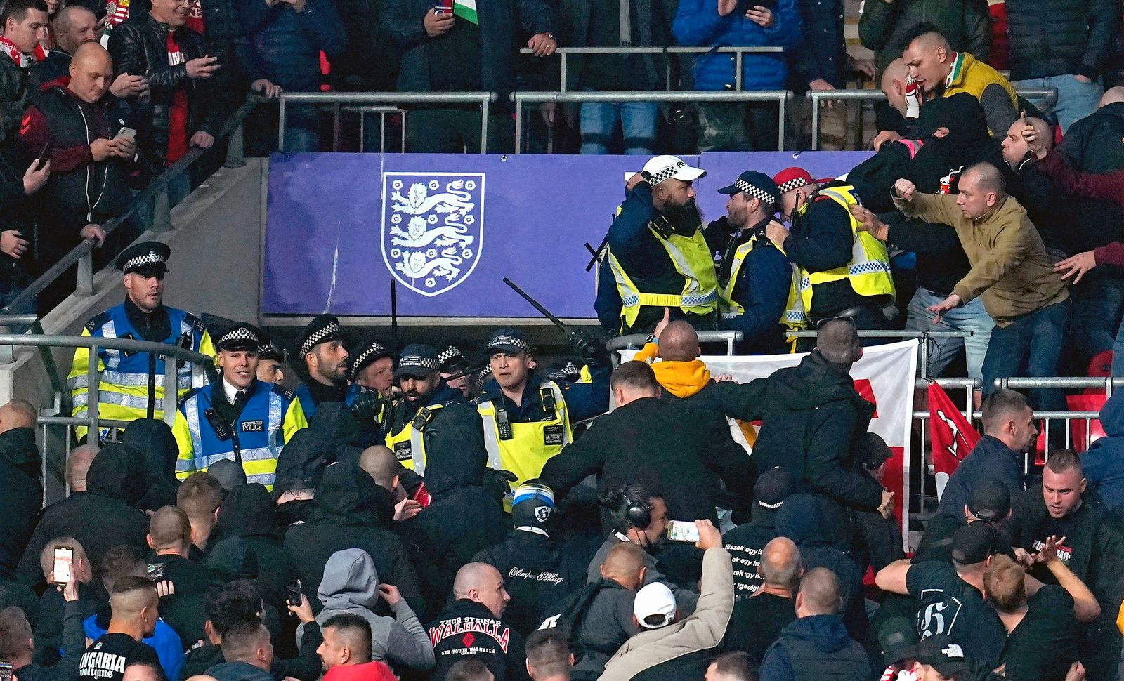 APTOPIX Britain Soccer Hungary Fans Wembley