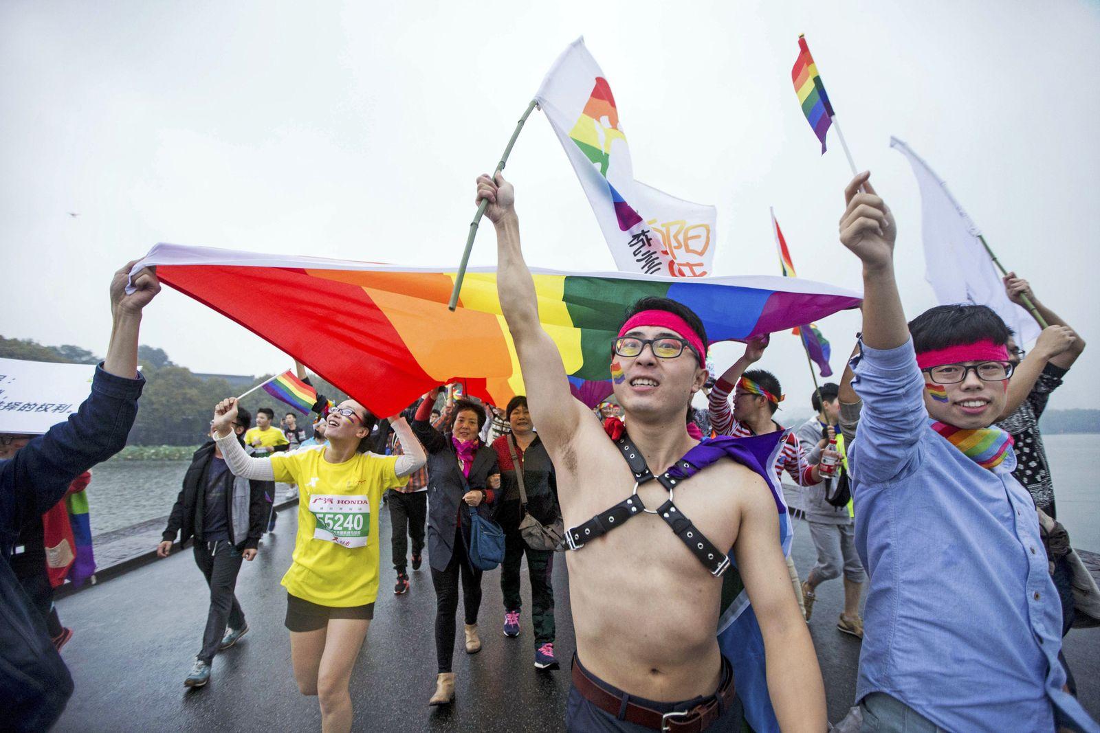 China Homoehe Protest Homophobie