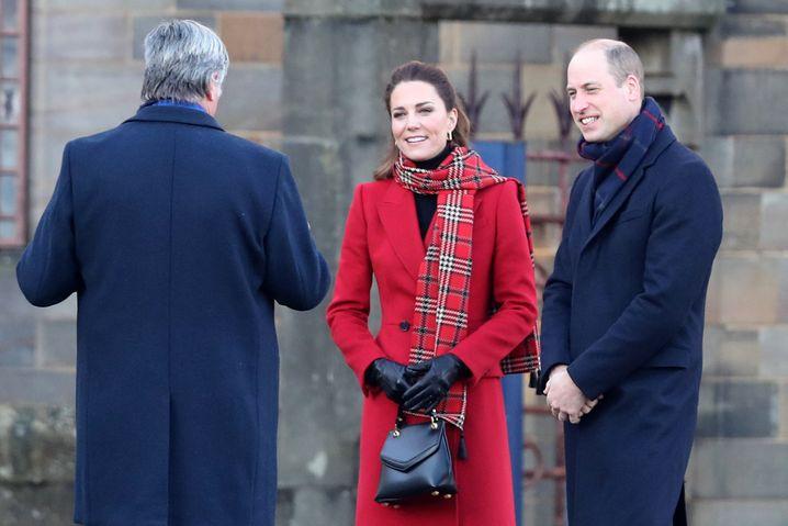 Kate und William in Cardiff