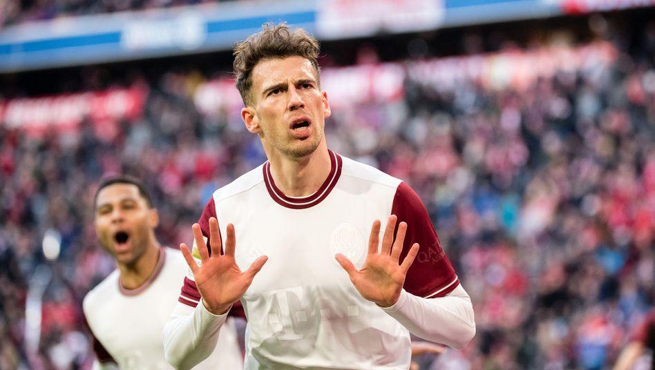 Leon Goretzka zeigte sich trotz eines Tors unzufrieden ob seiner Situation bei den Bayern