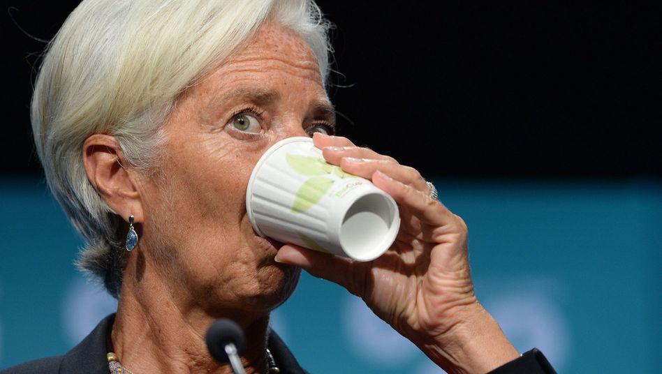 IWF-Chefin Christine Lagarde: Becher halbvoll oder halbleer?