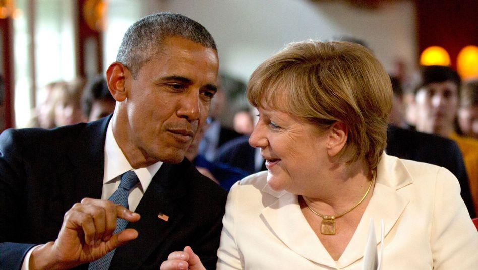 Obama und Merkel wollen auch über TTIP reden (Bild: Archiv)