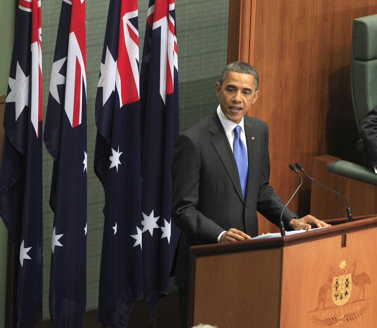 obama in australien rede