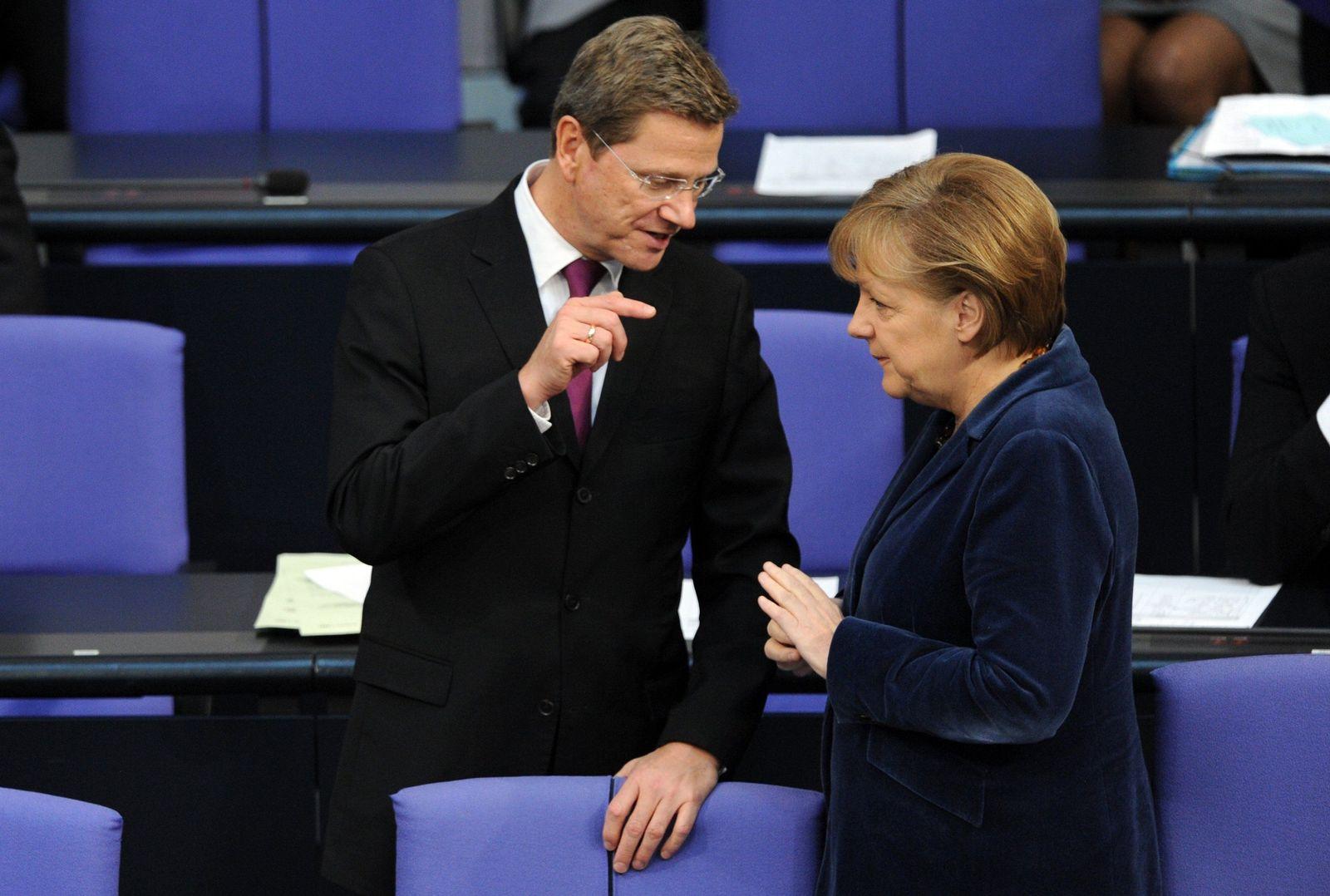 Bundestag / Merkel / Westerwelle
