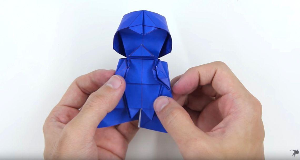 NUR ALS ZITAT Screenshot Nerd Origami/ Darth Vader aus Papier